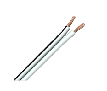 Value 2 Core Speaker Cable White PVC 100m