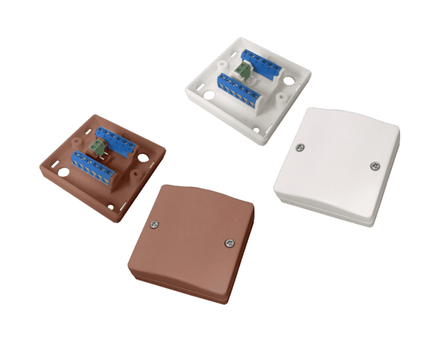 CQR JB720 12 Way alarm junction box White or Brown