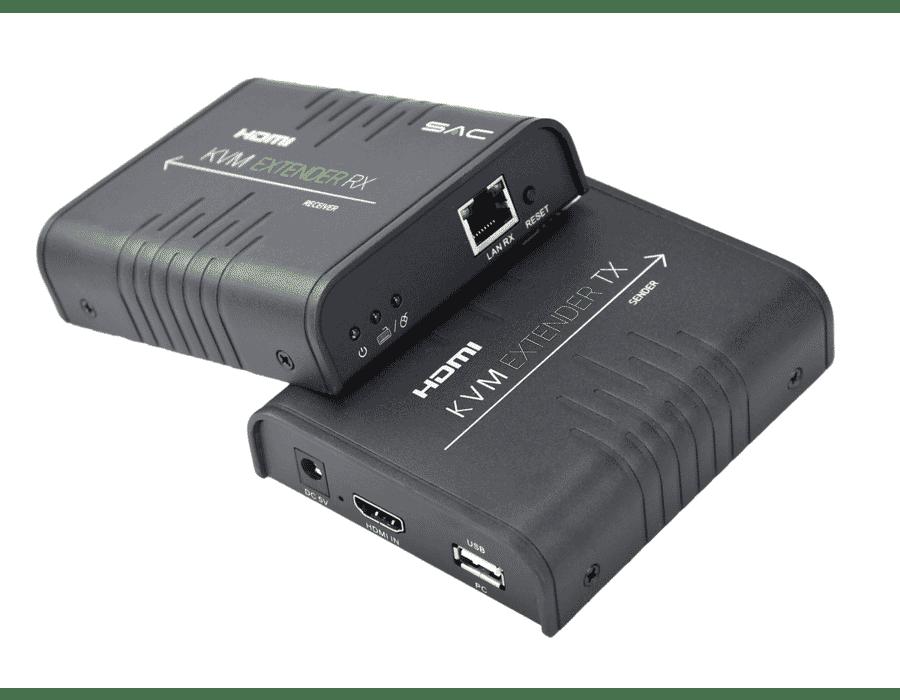 120m HDMI and USB KVM Cat6 Extender 1080P