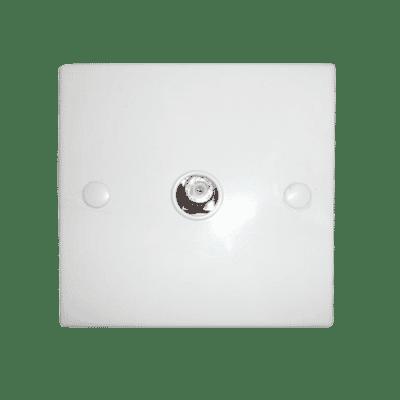 Single TV or Satellite F Plug Wall Face Plate