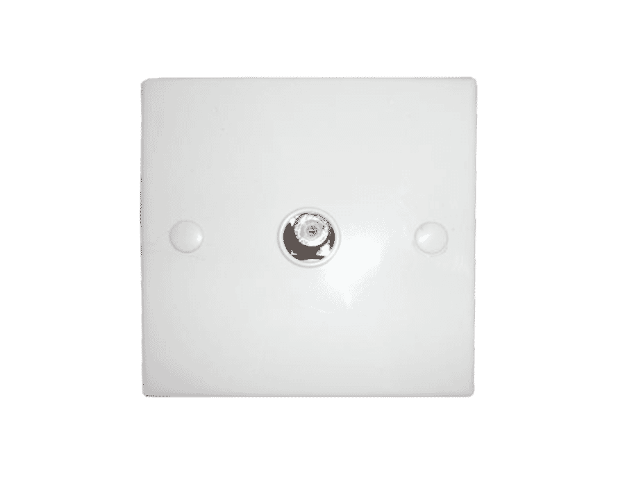 Single TV or Satellite F Plug Wall Face Plate