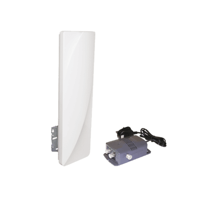 Large High Gain Portable Amplified Panel TV Aerial