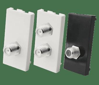 TV or Satellite F-Plug Socket Euro Module