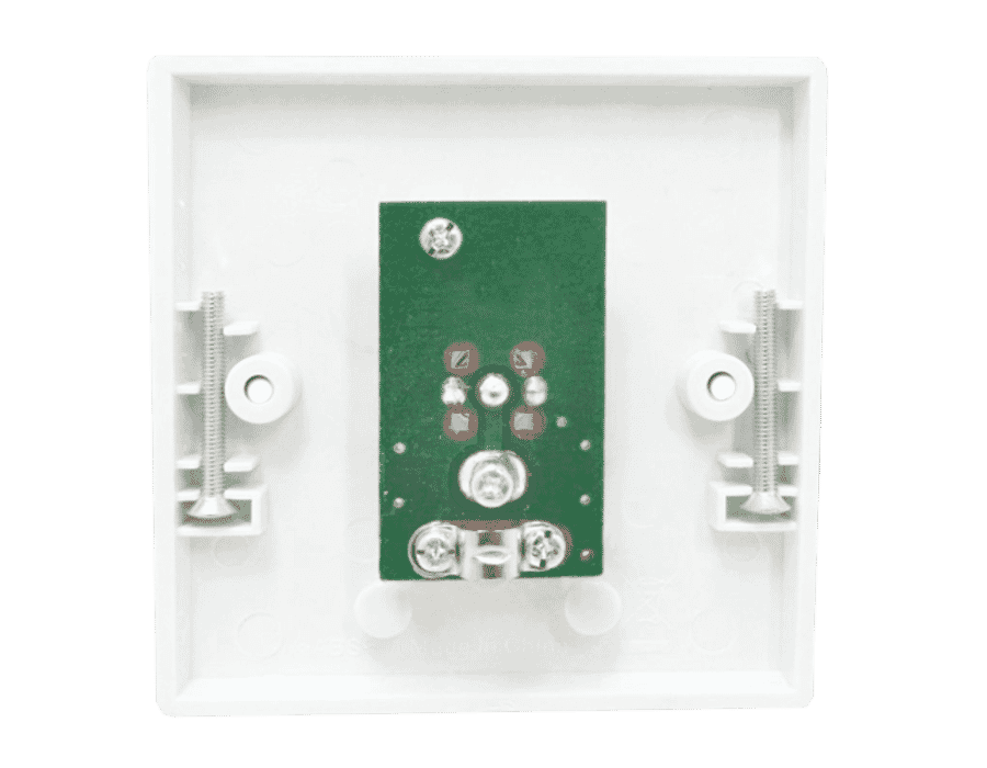 Single TV Aerial Coax Socket Wall Face Plate