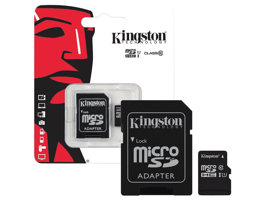 Kingston MicroSDHC CLass 10/UHS-I Flash Memory Card