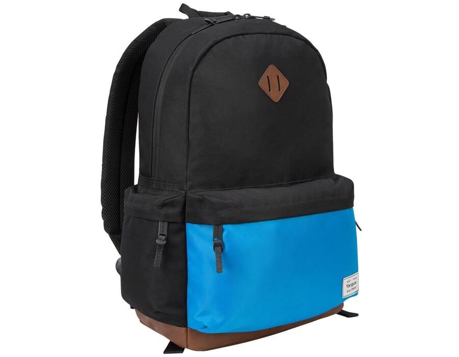 """Targus Strata 15.6"""" Black/Blue Laptop Backpack"""