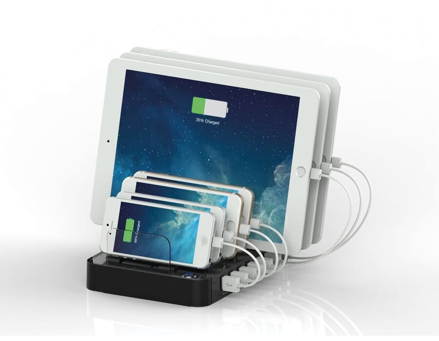 Multiple Device Tablet or Smart phone USB charging station