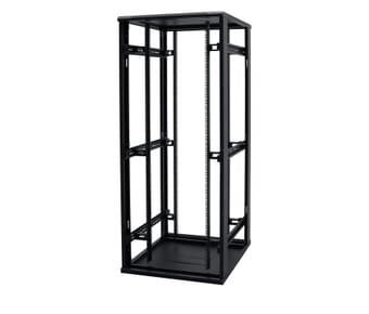 Floor Standing 27u 600x600 Perspex Door Black