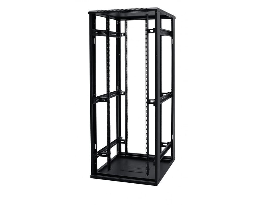 Floor Standing 27u 600x600 Perspex Door Black