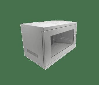 "Compact Wall Mounted 300m Deep 19"" Data Cabinet Grey"
