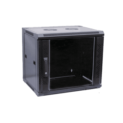 19 Inch Flat Pack Wall Mounted Data Cabinets with Glass Door