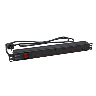 UK Socket / UK Plug Horizontal PDU