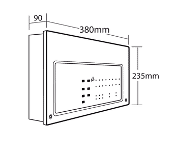 C-TEC CFP702-4 Standard 2 Zone Conventional Fire Alarm Panel