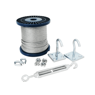 50m Catenary Steel Wire Rope Kit