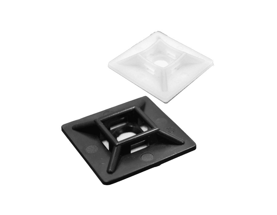 4 Way Self Adhesive Cable Tie Mounting Base (x100)