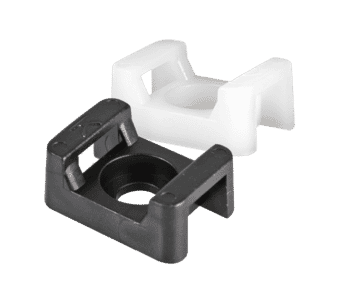 Screw-in Cable Tie Saddle 100 pack