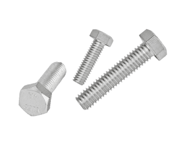 Zinc Plated Steel Hex Head Bolt Screw (10 Pack)