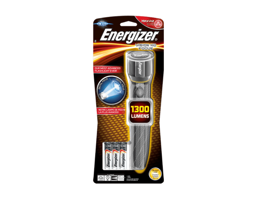 Energizer Vision HD Focus LED metal Torch