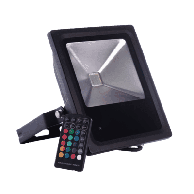 Diamond Saxon Remote Control Colour Changing LED Floodlight