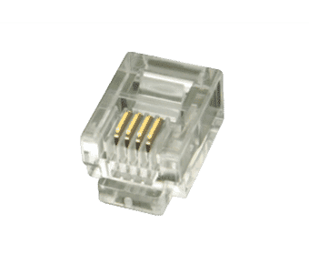 6P4C RJ11 FCC Crimp Plug (10 pack)