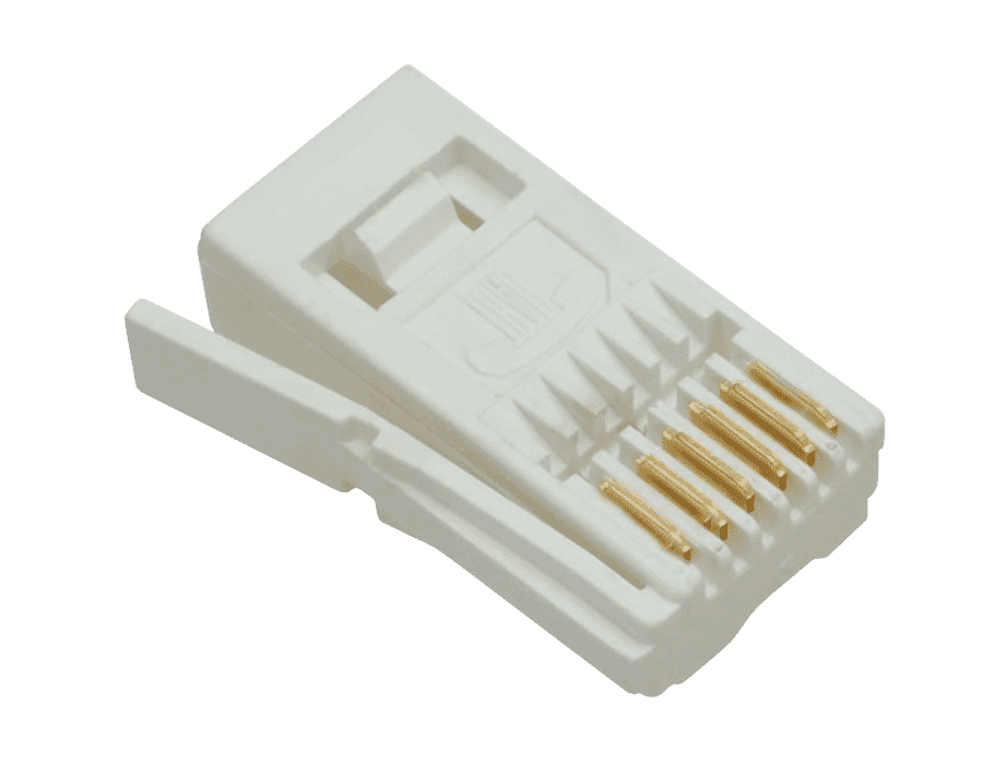 UK BT Style 6 Pin Telephone Plug (25 pack)