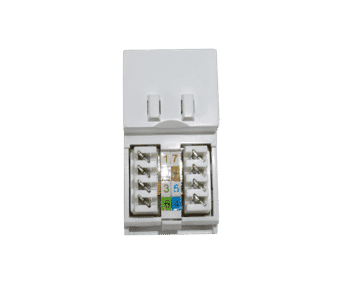 Cat 5e UTP RJ45 Euro Module White or Black