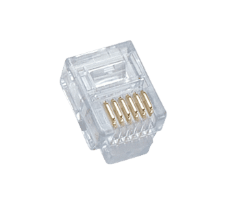 6P6C RJ12 FCC Crimp Plug (10 pack)