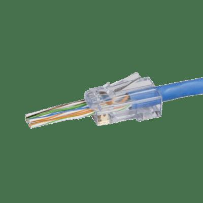 Easy Fit Push Through RJ45 Cat5e/6 Modular Crimp Plug 10pc
