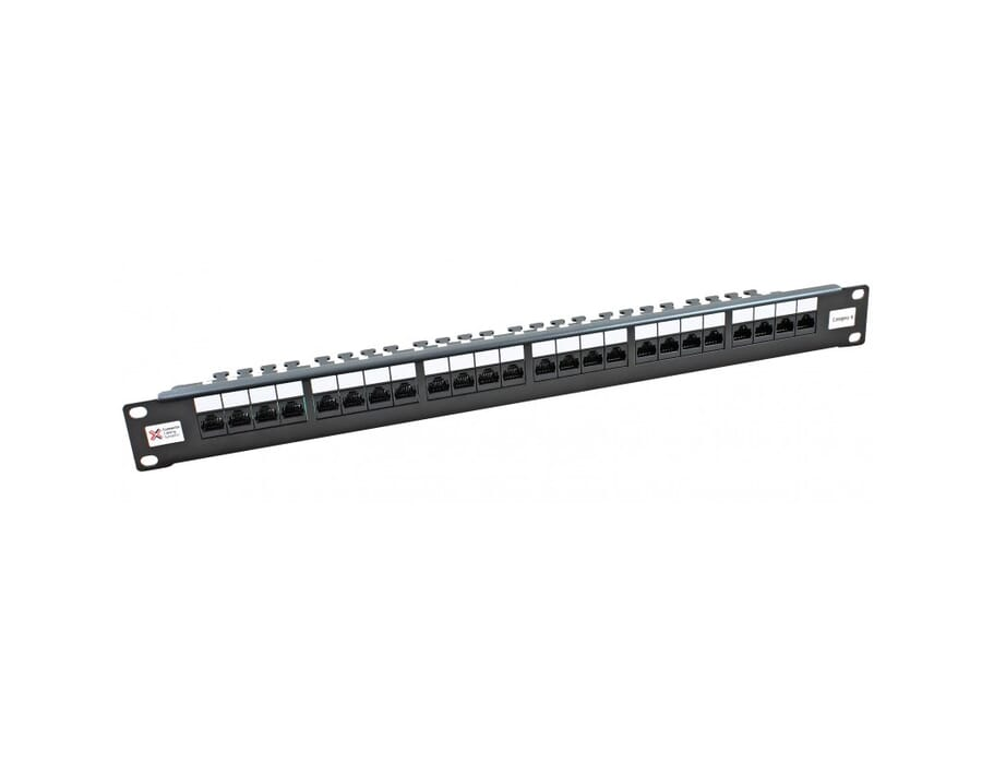 24 Port Cat 6 UTP CCS 20/20 Right Angle Patch Panel