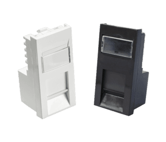 Cat 6 UTP RJ45 Euro Module White or Black