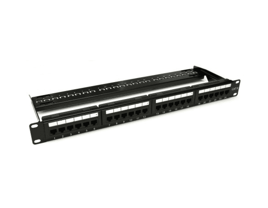 24 Port Cat 6 UTP IDC Patch Panel 1U 19""