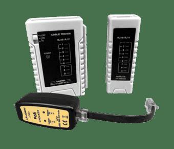 RJ45 Cat 5e/6 LAN Network Tester with PoE Checker