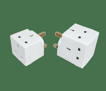 2 or 3 Way 3 pin 230v Plug Cube Adaptor