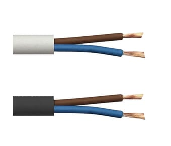 Value 2 Core PVC Mains Flex Power Cable 2182Y