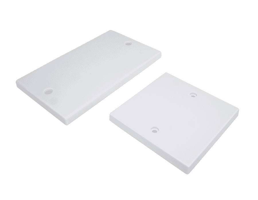 Single and Double Gang White Plastic Blanking Plate
