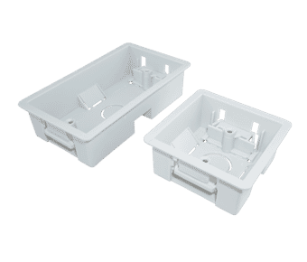 Single and Double Gang Dry Wall Dry Lining 35mm Deep Back Box