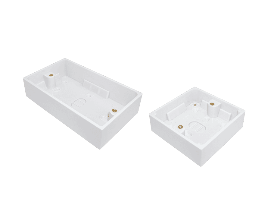 Plastic Single and Double Gang Surface Mount Pattress Back Box