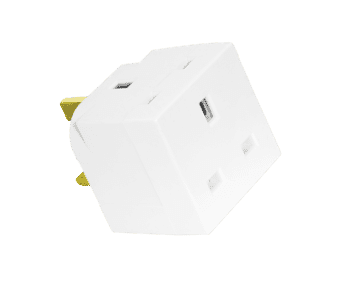 2 or 3 Way 3 pin 230v Plug Cube Adapter