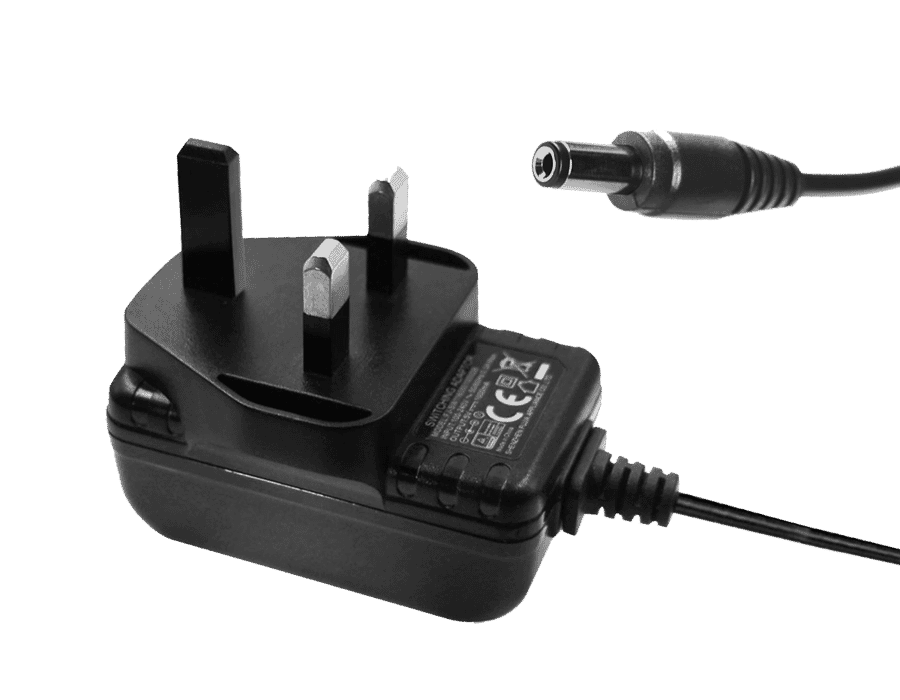 12V 1A 1000ma Plug-in Power Supply with 2.1mm DC Plug