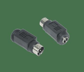 2.1mm Barrel Plug to 4 Pin DIN Plug Convertor