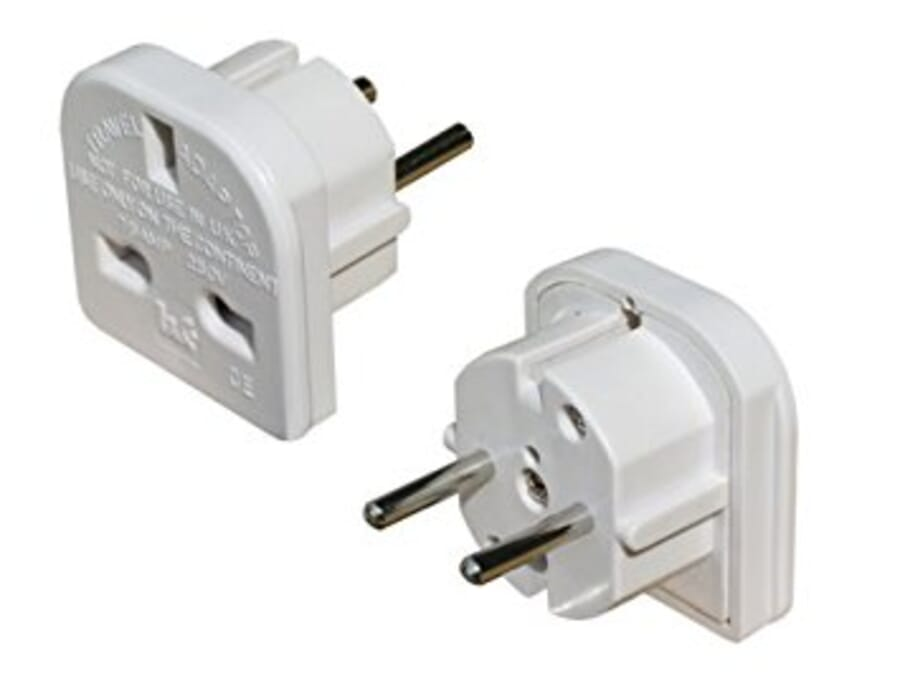 UK to EU Travel Adaptor Twin Pack