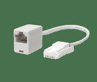 UK BT Telephone Plug to RJ45 Socket Adapter