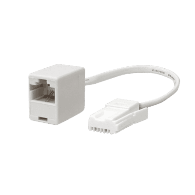 UK BT Telephone Plug to RJ45 Socket Adapter