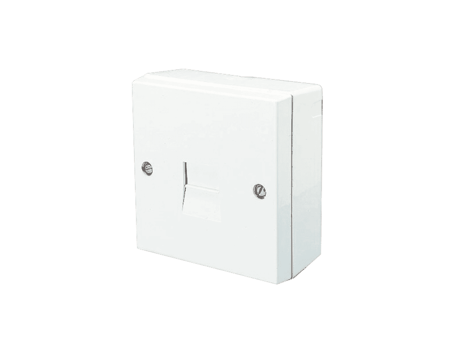 Surface Mount 2/3 Line Jack Telephone Extension Socket